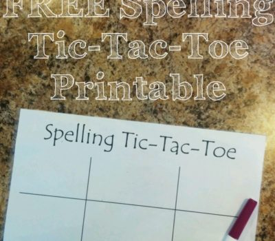 Ways to Practice Spelling (Activity Idea 1):  Spelling Tic-Tac-Toe FREE Printable