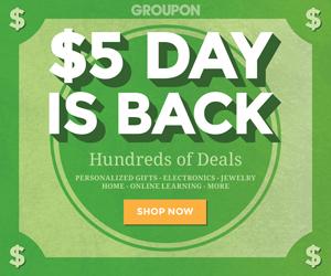 $5 Day at Groupon