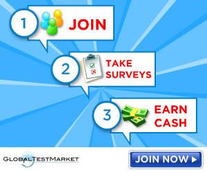 Earn CASH to take Surveys from Global Test Market
