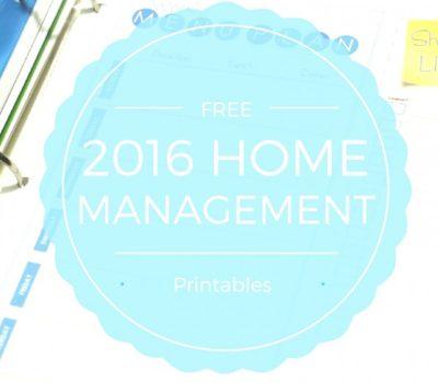 FREE Home Management Binder Printables for 2016
