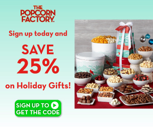 25% OFF at the Popcorn Factory