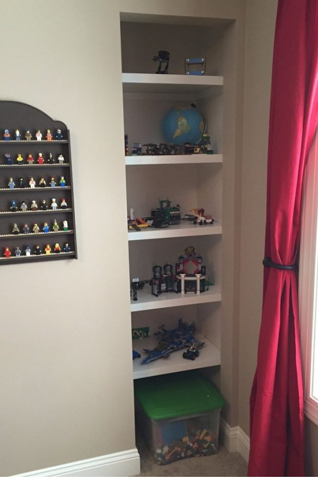 built in shelves for lego creations
