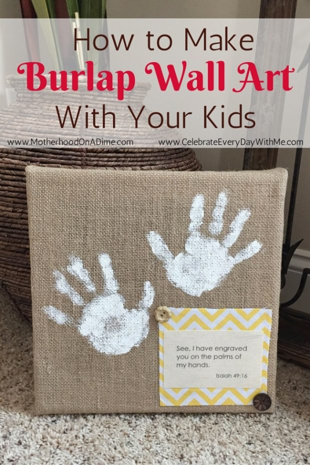 How To Make Burlap Wall Art With Your Kids Kids