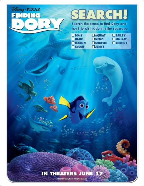 Finding Dory Scene Search