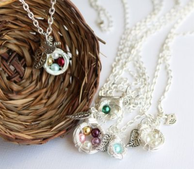Mother's Family Nest Necklace (Customizable) for $8.99 + Shipping