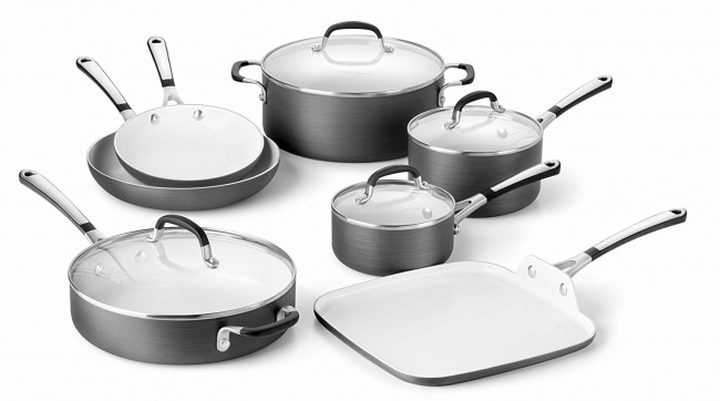 Calphalon Ceramic Cookware Set For 52 Off More Cutlery