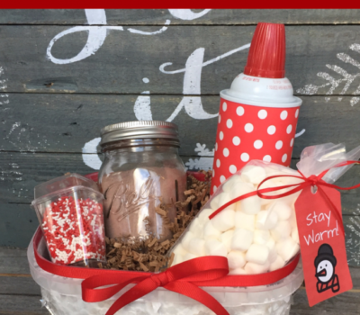 Showing Kindness with a Doorstep DIY Hot Chocolate Basket (+ FREE Printable)