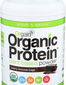 Lowest Price! Orgain Plant-Based Creamy Chocolate Fudge Protein Powder