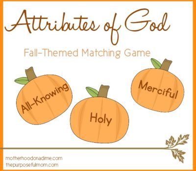 attributes of God fall matching game