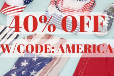 40% Off America Inspired Fashion & Accessories