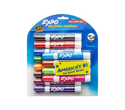 Expo Chisel Tip Markers, 12 Ct. for $7.19