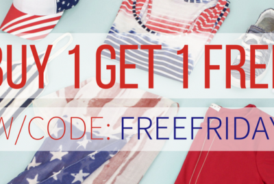 Fashion Friday: Buy 1, Get 1 FREE 4th of July Pieces (Shirts, Hats, Sandals, Etc.)