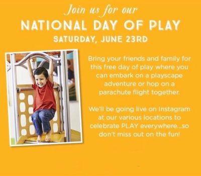 FREE National Day of Play Event at Gymboree Play & Music Locations on June 23rd