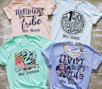 Gift Idea: Personalized Teacher Tees + More Clothing Deals