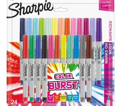 Sharpie Ultra-Fine Tip Color Burst Markers (24 Ct)