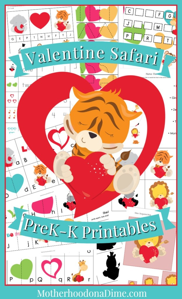 picture regarding Printable Months of the Year for Preschool known as Cost-free Valentine Preschool Kindergarten Printable Pack