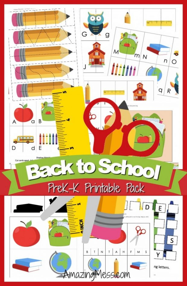 image relating to I Printable known as Absolutely free Again-in the direction of-University Printable Pack for Pre-K Kindergarten